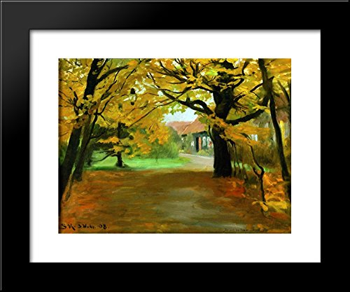 (Artist's House in Skagen Plantation 20x24 Framed Art Print by Peder Severin Kroyer)