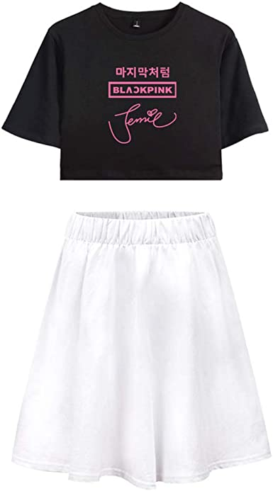Enjoyyourlife Blackpink KPOP Ropa Camiseta Set Expuestos Falda ...