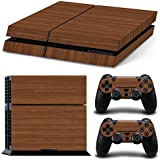 Gam3Gear Pattern Series Decals Skin Vinyl Sticker for PS4 Console & Controller (NOT PS4 Slim / PS4 Pro) - Wood