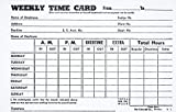 2 Pack Weekly Employee Time Card, Monday thru Sunday 4 x 6 100 Per Pack, (Total of 200 Sheets)