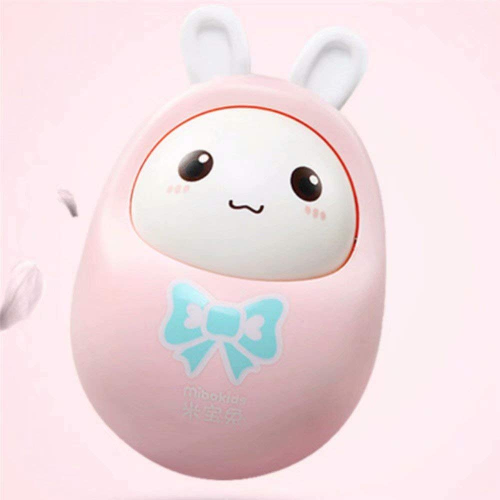 Ungfu Mall Baby Toys Rattles Nodding Tumbler Doll Sweet Bell Music Roly-poly Learning Educational Toys