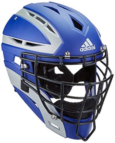 (adidas Performance PRO Series Baseball Catchers Helmet, Collegiate Royal/Silver, One Size)