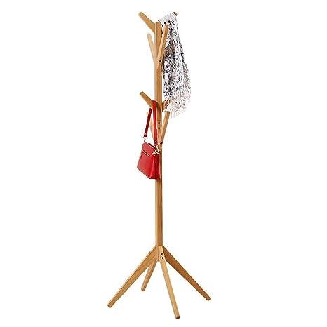 HM Perchero de pie de Madera de 165 cm Estante, en Forma de árbol 8