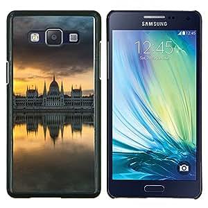 TECHCASE---Cubierta de la caja de protección para la piel dura ** Samsung Galaxy A5 ( A5000 ) 2014 Version ** --Espejo City