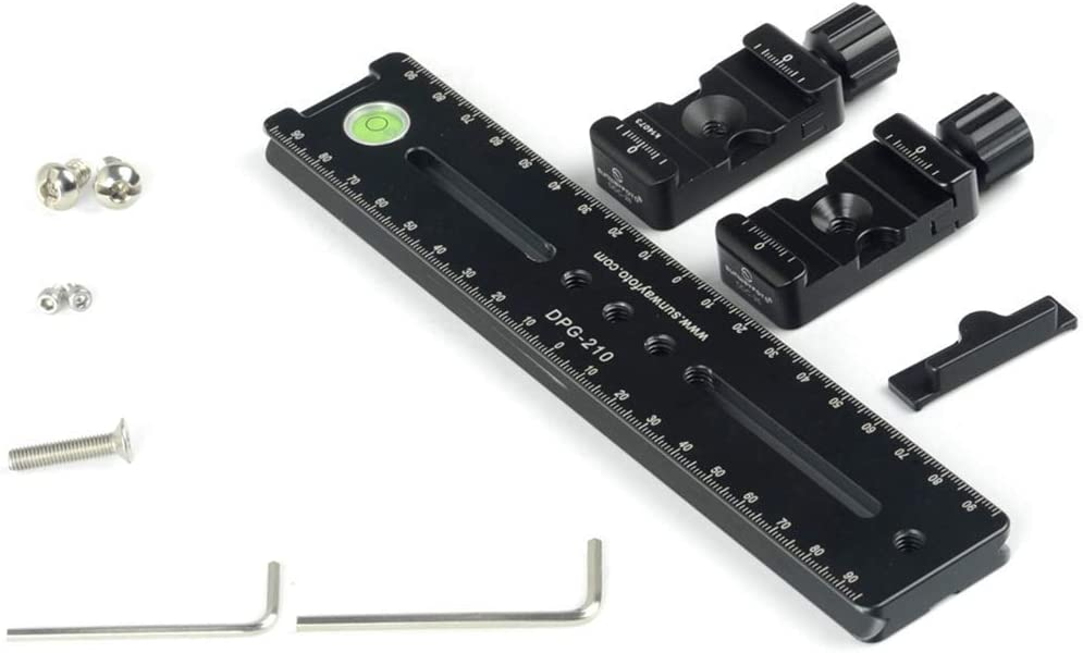 3D Dual-Camera Shooting Kit Universal panning Slider Rail/&2 Quick Release Clamps
