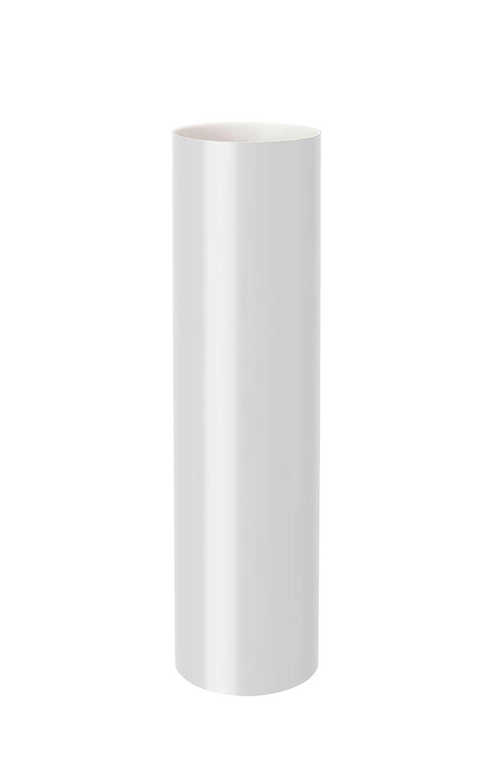 2 Meter PVC RainWay Regenrinnensystem Regenwasser Regenrinne FALLROHR