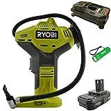 Ryobi P737 18-Volt One+ Tire Inflator Bundle with...