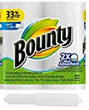 Bounty Select-A-Size, 2 x More Absorbent Paper Towels Roll, 11 x 5.9-Inches, White