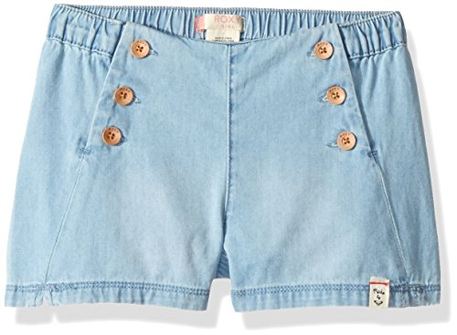Roxy Girls' Little Shiny Thoughts Short, Light Blue 5 -