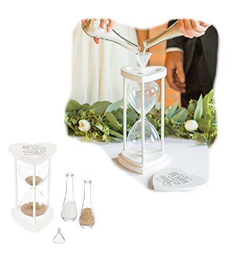 Cathy's Concepts Personalized Hourglass Sand Ceremony, Silver