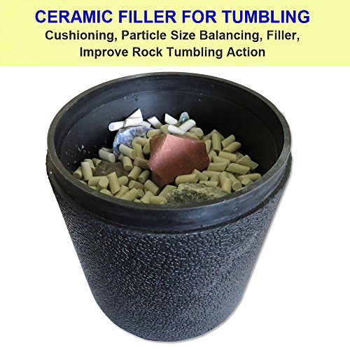 Polly Plastics Ceramic Rock Tumbling Large Media. 1.5 Lbs Rock Tumbler Filler Large Cylinders in Heavy Duty Resealable Bag by Polly Plastics (Image #3)