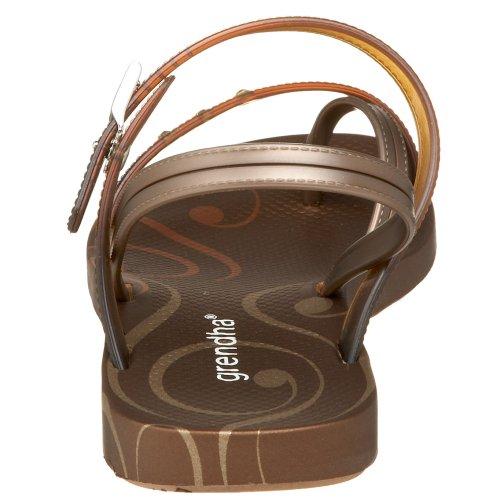 Sandalo Sandalo Donna Giorno Sabbia Beige / Rosso / Oro