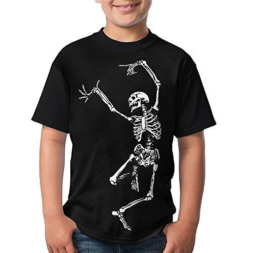 Teenager Boys Dancing Skeleton Short Sleeve Shirt Fashion Design 3D Printed Mens (Valve Official Service Manual)