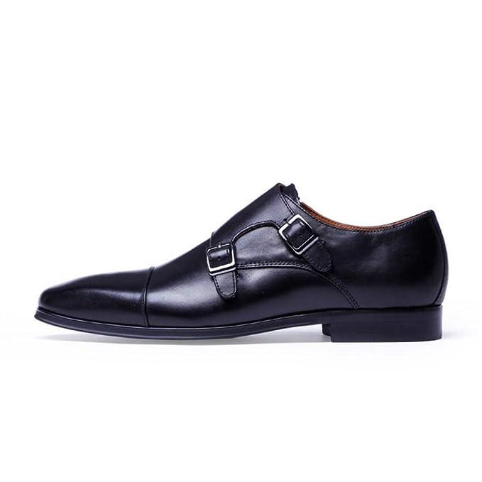 9130ffb677e20f LXMEI Veste mode Cuir Formal Chaussures Haut de gamme - Munch Chaussures - Cuir  Boucle moine Chaussures - Quatre saisons Grande taille Chaussures pour  homme ...