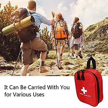 solo borsa campeggio barca ufficio Aoutacc Nylon Kit pronto soccorso in nylon escursionismo compatto e leggero Sacco per primo soccorso per emergenza a casa auto allaperto