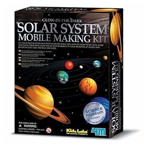 Unbranded 4M Glow-In-The-Dark Kids Educational Solar System Mobile Science Project Toy New