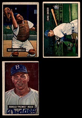 1951 Bowman Brooklyn Dodgers Team Set Brooklyn Dodgers (Baseball Set) Dean's Cards 3.5 - VG+ Dodgers