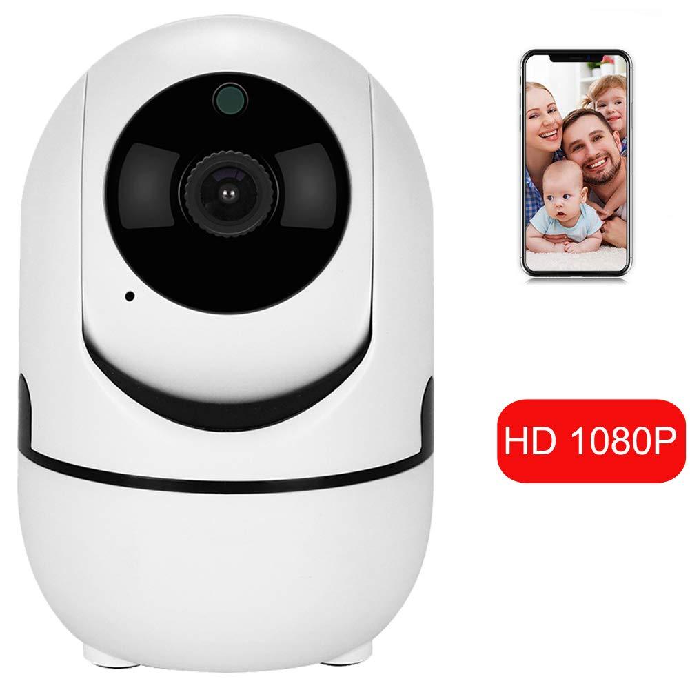 Caméra IP 1080p HD avec Motion Tracker / Audio bidirectionnel / Vision Nocturne / Télécommande APP, Télécommande dôme de sécurité intérieure 2.4 GHz WiFi