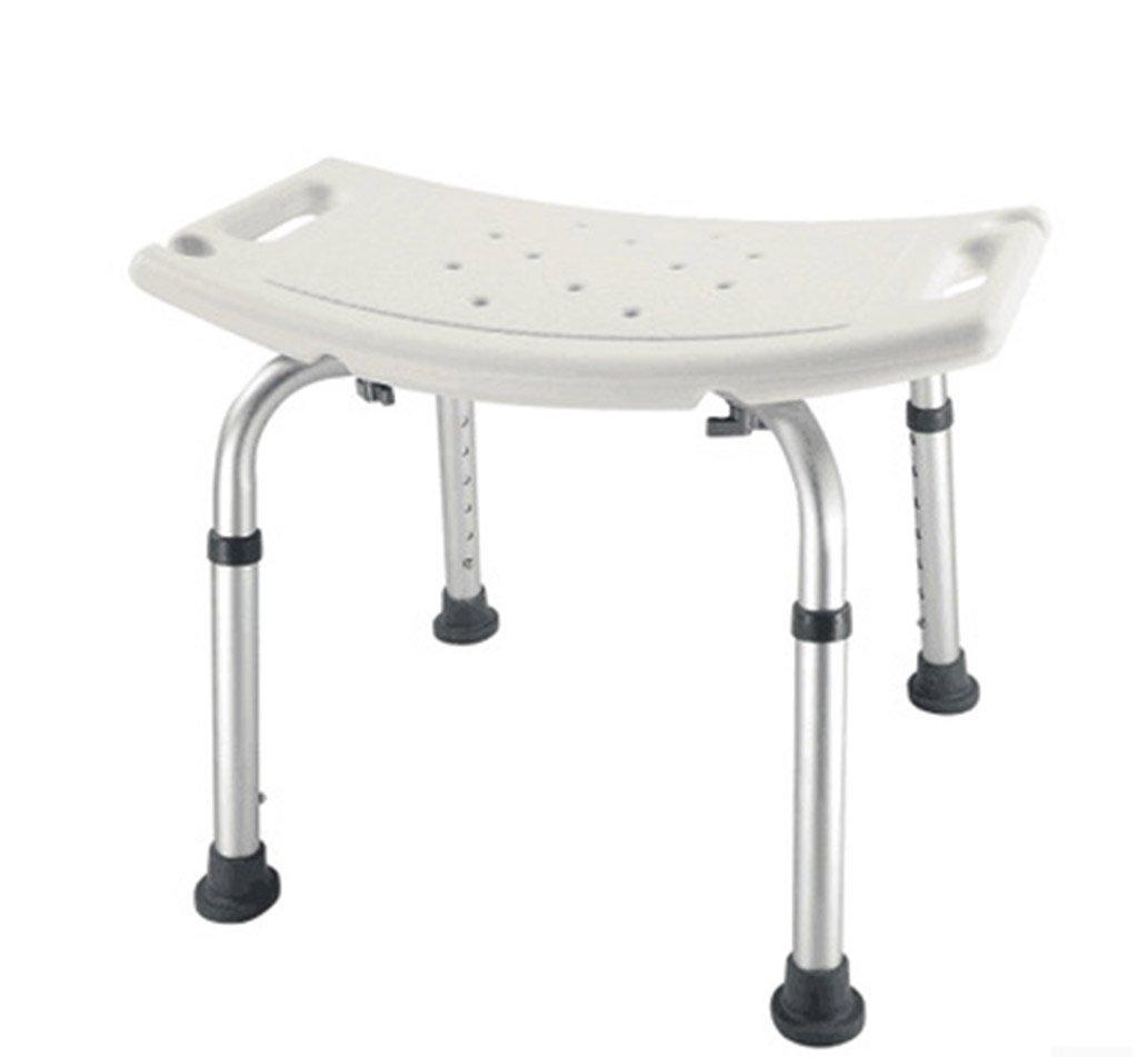 シャワー椅子、高さ調節可能なノンスリップ老人妊娠中の女性バス椅子バスルームシャワーチェア B078RFV7KY