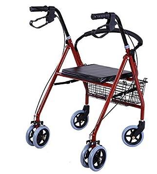 szfmmy® Andador 6 rueda andador con asiento silla con ruedas ...