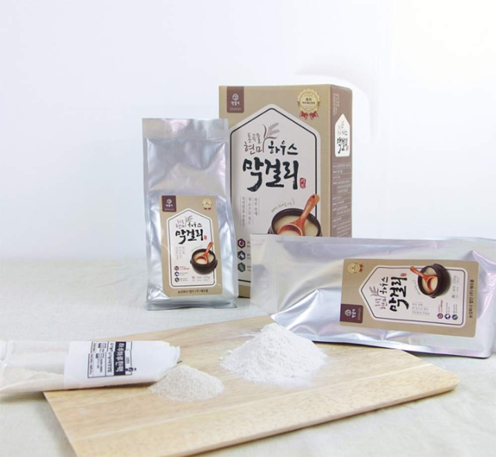 Raum Food Rice Wine KIt, Makgeolli Korean Traditional Whole grain Make Wine (Double Dose: Makgeolli powder 8.8ozX2, Enzyme powder 0.52ozX2) by RAUM Food