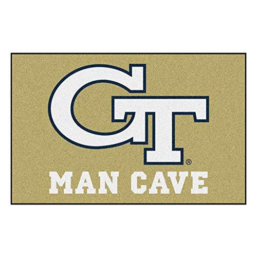 FANMATS 14548 Georgia Tech Nylon Universal Man Cave Starter -