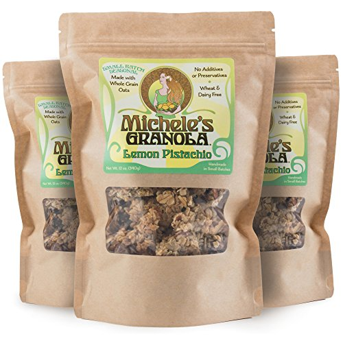 Michele's Granola Lemon Pistachio, 12 Oz Package, Pack of 3 ()
