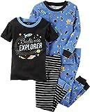 Carter's Boys' 12M-8 4 Piece Space Print Pajama Set