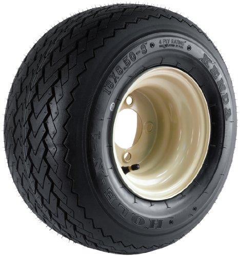 Kenda Hole-N-1 Stone Beige 8'' x 7'' 4-Hole Wheel and (18/8.50-8) Tire Combination by Kenda