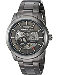 Kenneth Cole New York Mens  Japanese Automatic Stainless Steel Dress Watch, Color:Grey (Model: 10031274)