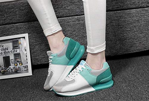 Nuove donna Primavera Sneakers aumento scarpe Scarpe donna Exing moda da antiscivolo C casual traspiranti Altezza Scarpe Autunno da HqwxWyEXtC