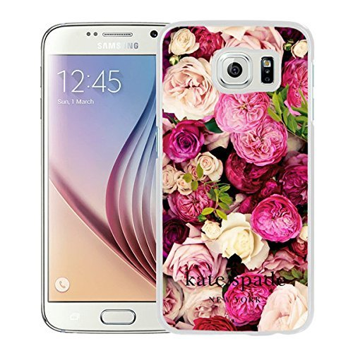 Luxurious And Nice Custom Designed Kate Spade Cover Case For Samsung Galaxy S6 White Phone Case 202