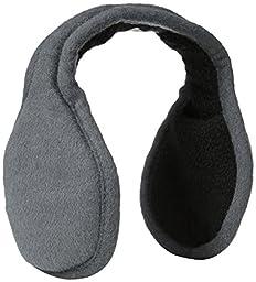 180s Chesterfield Ear Warmer, Gun Metal, One Size