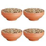 Esschert Design FF124 Fire Bowl in Terracotta Pot, Set of 4