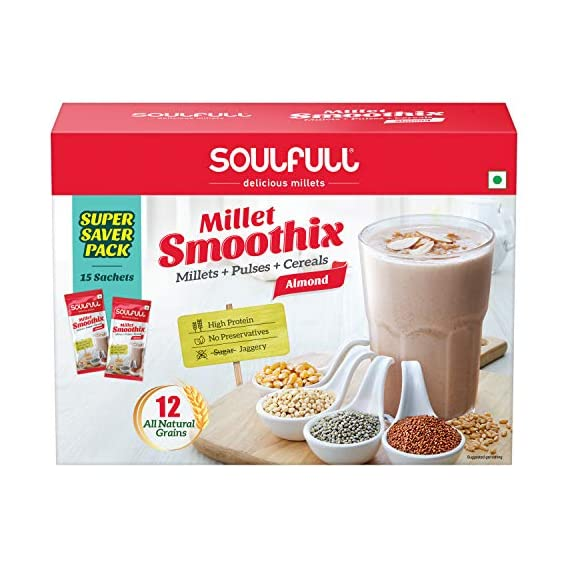 Soulfull High Protein Millet Smoothix (Almond) - 450g