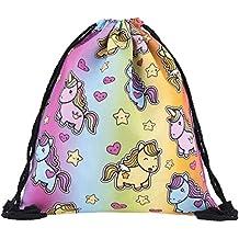 Ababalaya 3D Print Drawstring Backpack Rucksack Shoulder Bags Gym Bag