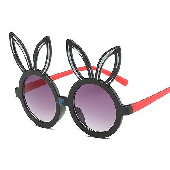 Wang-RX Forma de conejo lindo Gafas de sol flexibles para ...