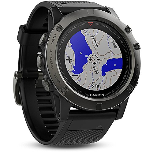 Garmin Fenix 5X Sapphire Multisport 51mm GPS Watch Slate Gray (010 01733 00) w/ Extended Warranty Bundle Includes, 1 Year Extended Warranty, Charging and Data Cable & USB Travel Wall Charger