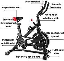 GMQRKL Bicicleta de Spinning, Bicicleta de Ejercicios silenciosa ...