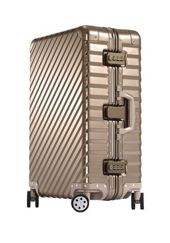[OCCA-L'armatura] スーツケース アルミボディ キャリーケース キャリーバッグ キャリーバック 小型 中型 大型 Lサイズ Mサイズ Sサイズ ダブルキャスター TSAロック ダイヤル式 修学旅行 出張 ビジネス 国内旅行 海外旅行 B01N59X99G L|ゴールド ゴールド L