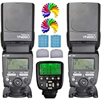 YONGNUO YN660 Flash Speedlight KIT + YN560TX C Flash Trigger Remote Controller For Canon DLSR Cameras(YN560IV Upgrade Version)