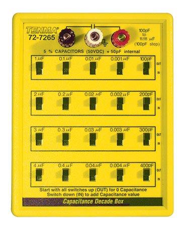 Capacitor Decade (TENMA 72-7265 CAPACITOR DECADE BOX, 100PF-11.111MF 50V)