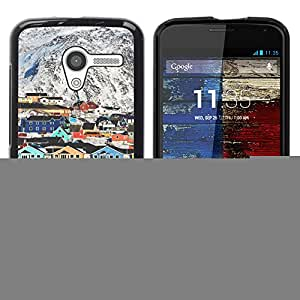 For MOTO X / XT1058 / XT1053 / XT1052 / XT1056 / XT1060 / XT1055 Case , Mountain Houses Colorful Architecture - Diseño Patrón Teléfono Caso Cubierta Case Bumper Duro Protección Case Cover Funda
