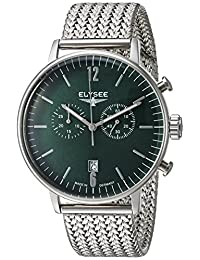 ELYSEE Men's 'Classic-Edition' Quartz Stainless Steel Casual Watch, Color:Silver-Toned (Model: 13296M)