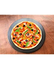 """12.9"""" Pro Nonstick Ceramic Pizza Stone Pan Grill Oven BBQ Bread Baking Stone for Gas, Housewarming Gifts,Thermal Shock Resistant 1475℉"""