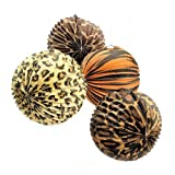 Animal Print Hanging Paper Lanterns (1 dz)
