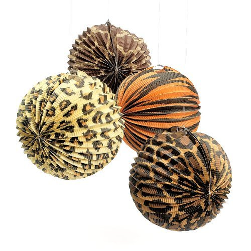 Animal Print Hanging Paper Lanterns (1 - Party Print Animal