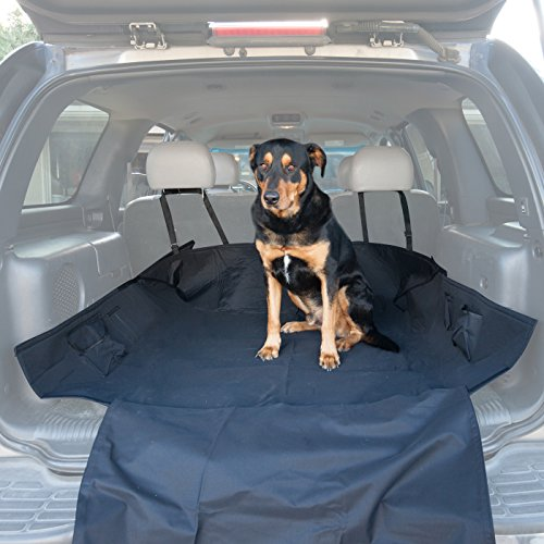 Paws & Pals Pet Seat Cover for Cars with Thick HD Fabric Waterproof and Washable Trunk Cargo Liner Bed Floor Mat, 64
