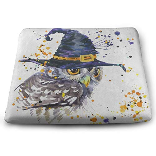 Ladninag Watercolor Halloween Hipster Owl and Witch Hat]()