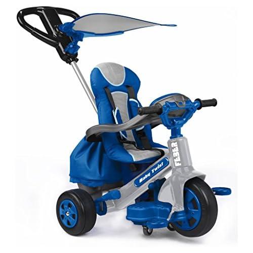 FEBER Triciclo de paseo Infantil para niños de 1 a 3 años Color azul Famosa 800009780
